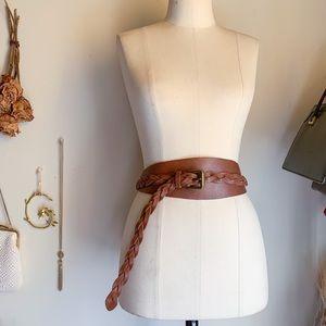 Vintage J.crew Leather Equestrian Cognac Belt Sz M